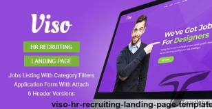 Viso - HR Recruiting Landing Page Template By inovatikthemes