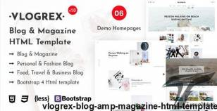 Vlogrex - Blog & Magazine HTML Template By rs-theme