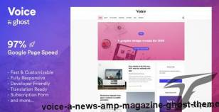 Voice - a News & Magazine Ghost Theme By bironthemes