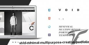 Void – Minimal Multi-Purpose Creative Portfolio By orbmobthemes