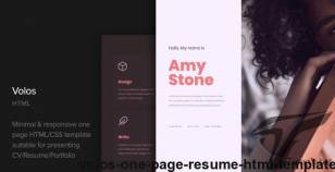 Volos - One Page Resume HTML Template By cocobasic