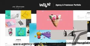Wave | Agency & Freelancer Portfolio-Muse Template By dev-themes