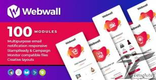 Webwall- 100 Responsive Email Notification modules with StampReady & CampaignMonitor compatible file By webwall