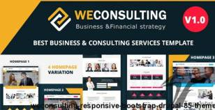 WECONSULTING - Responsive BootStrap Drupal 8.5 Theme By drupalet