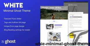Whie - Minimal Ghost Theme By electronthemes