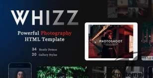 Whizz -  Photography HTML Template By fox-themes