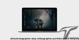 WILD - Photographer & Videographer Portfolio Muse Template By juliapovarkova