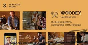 Woodex - Carpenter and Craftman Business HTML Template By themearc