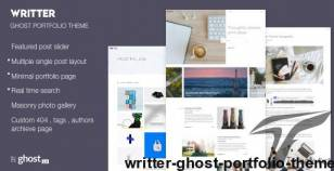 Writter – Ghost Portfolio Theme By haquethemes
