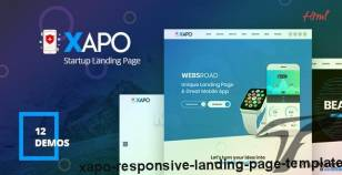 Xapo - Responsive Landing Page Template By websroad