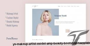 YS - Makeup Artist, Model & Beauty Bootstrap Template By duruthemes