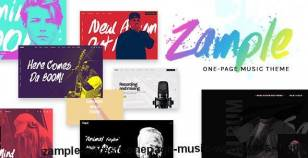 Zample - A Fresh One-Page Music WordPress Theme By wolf-themes