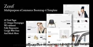 Zeref - Multipurpose eCommerce Bootstrap4 Template By themeglass