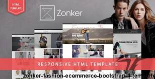Zonker - Fashion eCommerce Bootstrap 4 Template By hastech