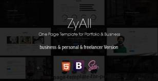 ZYAll - One Page Template for Portfolio & Business By design_grid