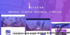 1STATION- One Page Startup Business Template