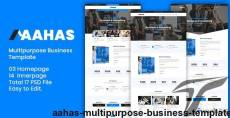 Aahas - Multipurpose Business Template By designideaz