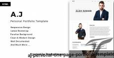 A.J - Personal One Page Portfolio Template