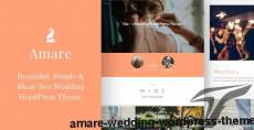 Amare | Wedding WordPress Theme