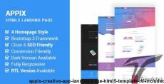 Appix - Creative App Landing Page HTML5 Template  (RTL Included)
