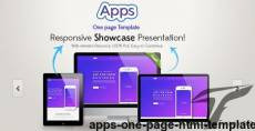 Apps One Page HTML Template