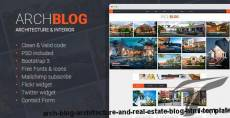 Arch Blog - Architecture and Real Estate Blog HTML template