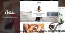 Article – Simple And Minimal Blog Template