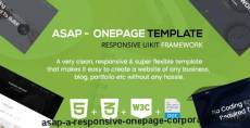 Asap - A Responsive Onepage Corporate Template