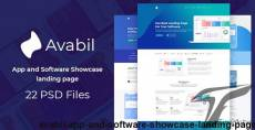 Avabil - App and Software Showcase landing page By xerotheme