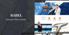Babel - Responsive HTML5 Template