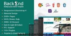 Backend - Dashboard Admin Template