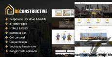 Be Constructive - One Page Construction HTML Template By eyecomm