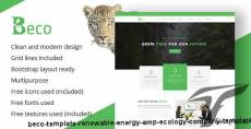Beco Template - Renewable Energy & Ecology Company Template By mad_brains