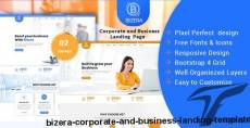 Bizera – Corporate and Business Landing Template By pixelaxis