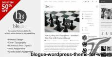 Blogue - WordPress Theme for Writers