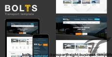 Bolts Transport - Transport/freight Business Template