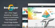 BooKeeper - Finances/Accounting HTML Template with Builder and Dashboard frontend