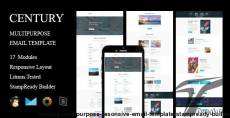CENTURY - Multipurpose Resonsive Email Template + Stampready Builder
