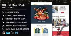 Christmas Sale - Multipurpose Responsive Email Template with Online StampReady Builder & Mailchimp E By pennyblack