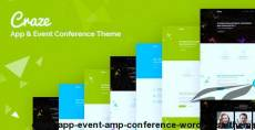 Craze - App Event & Conference WordPress Theme