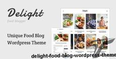 Delight - Food Blog WordPress Theme