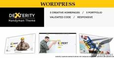 Dexterity - Responsive WordPress theme for Handyman, Construction, Architects and Plumbers, etc
