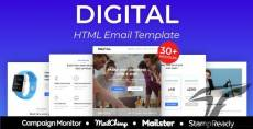 Digital Agency Responsive Email Template 30+ Modules - StampReady + Mailster & Mailchimp Editor By emailstudio