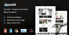 Donald - Creative and Clean Blog Template