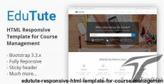EduTute - Responsive HTML Template for Course Management