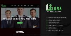 Elora    One Page Responsive Corporate Template