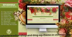 Ephemera–Online Shop and Blog WP Theme in Victorian Style