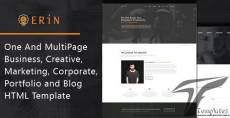 Erin - One and Multipage Creative, Business, Corporate Agency and Personal Portfolio HTML Template