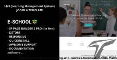 E-School - Professional Learning and Courses Business Joomla Theme