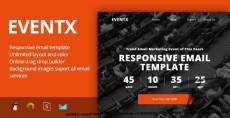 EventX - Event Confference Meetup Responsive Email Template + Stampready Builder